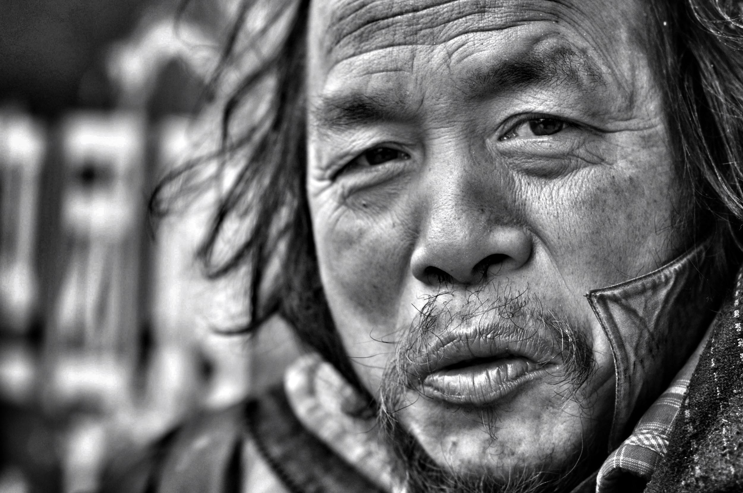 homeless man, han zheng, wuhan