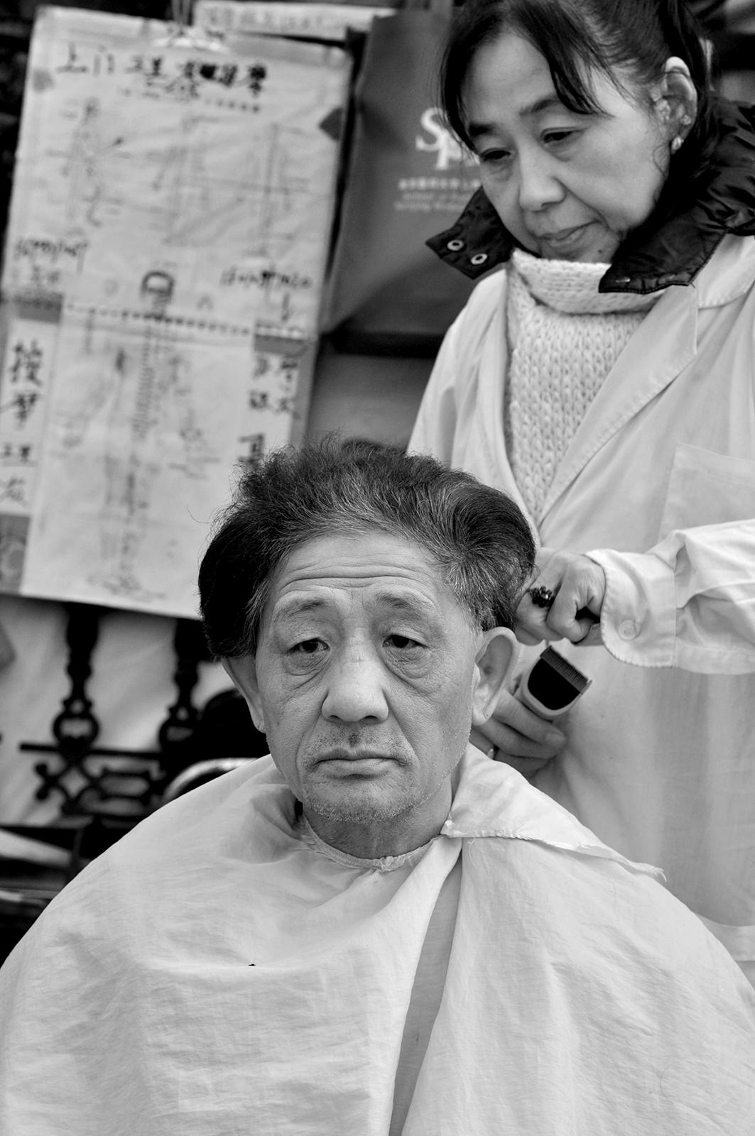 Outdoor haircut, Beijing