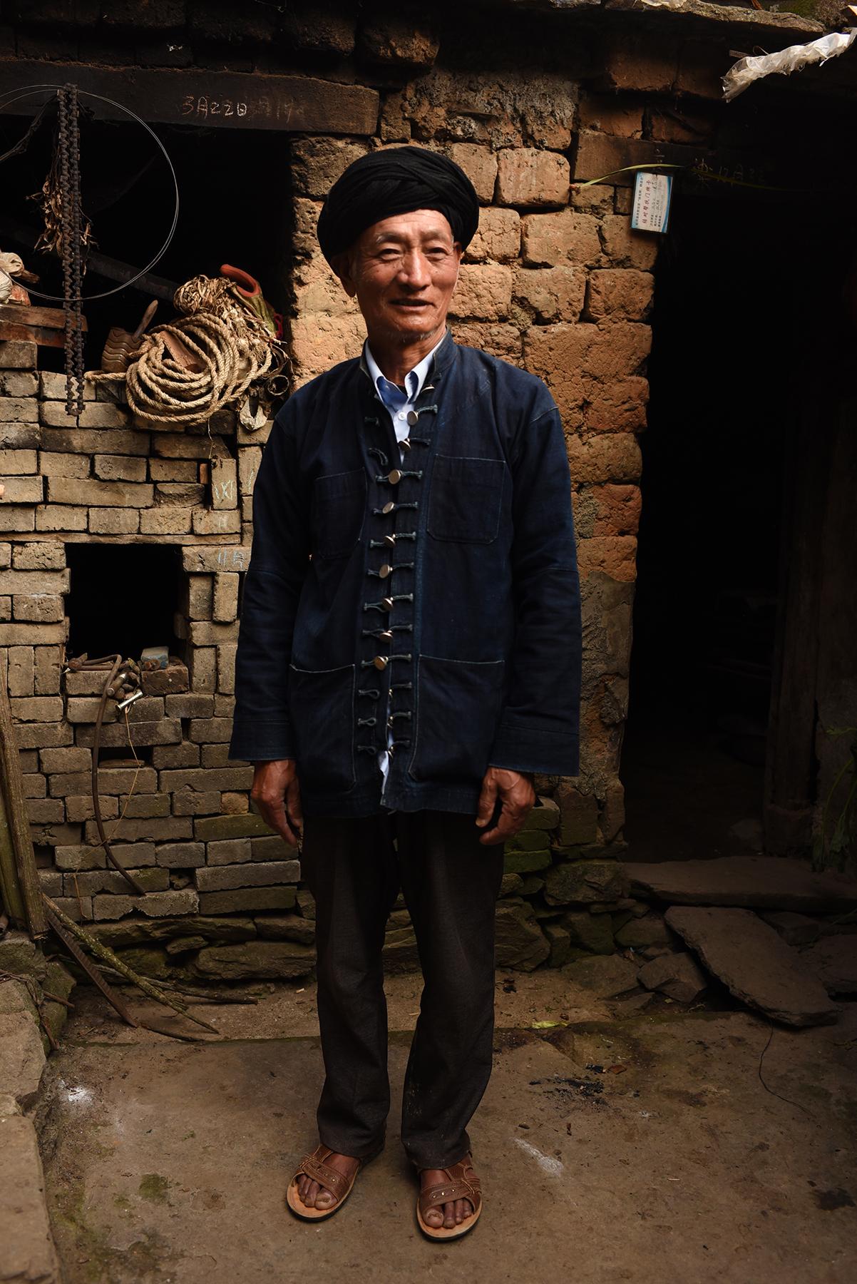 Wang LiLiang, inheritor of Lezuo musical tradition. Dieshi village, Yunnan, 2017.