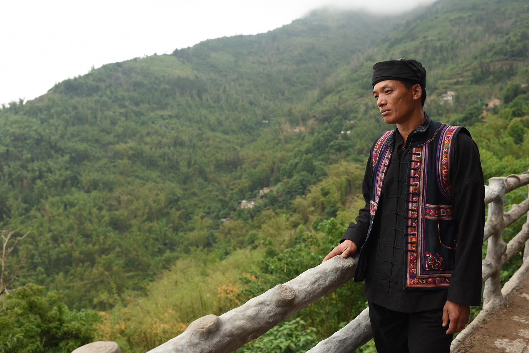 Inheritor of Mang Drum Dance Li Ke, at home in Potuo village, Yunnan, 2017.