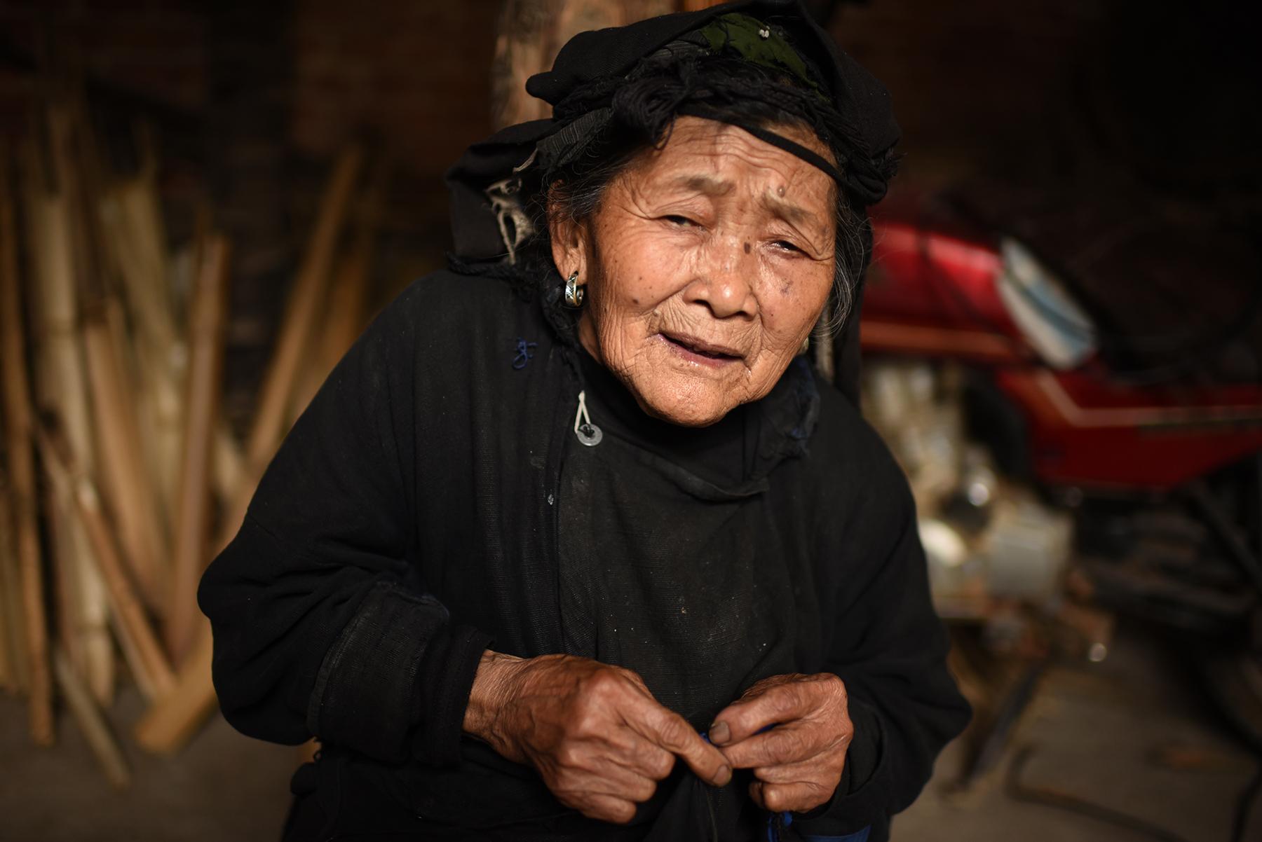 Hani elder, Potuo village, Yunnan, 2017