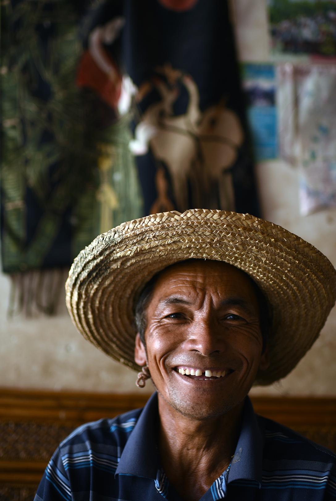 Farmer at home in Dayangjie