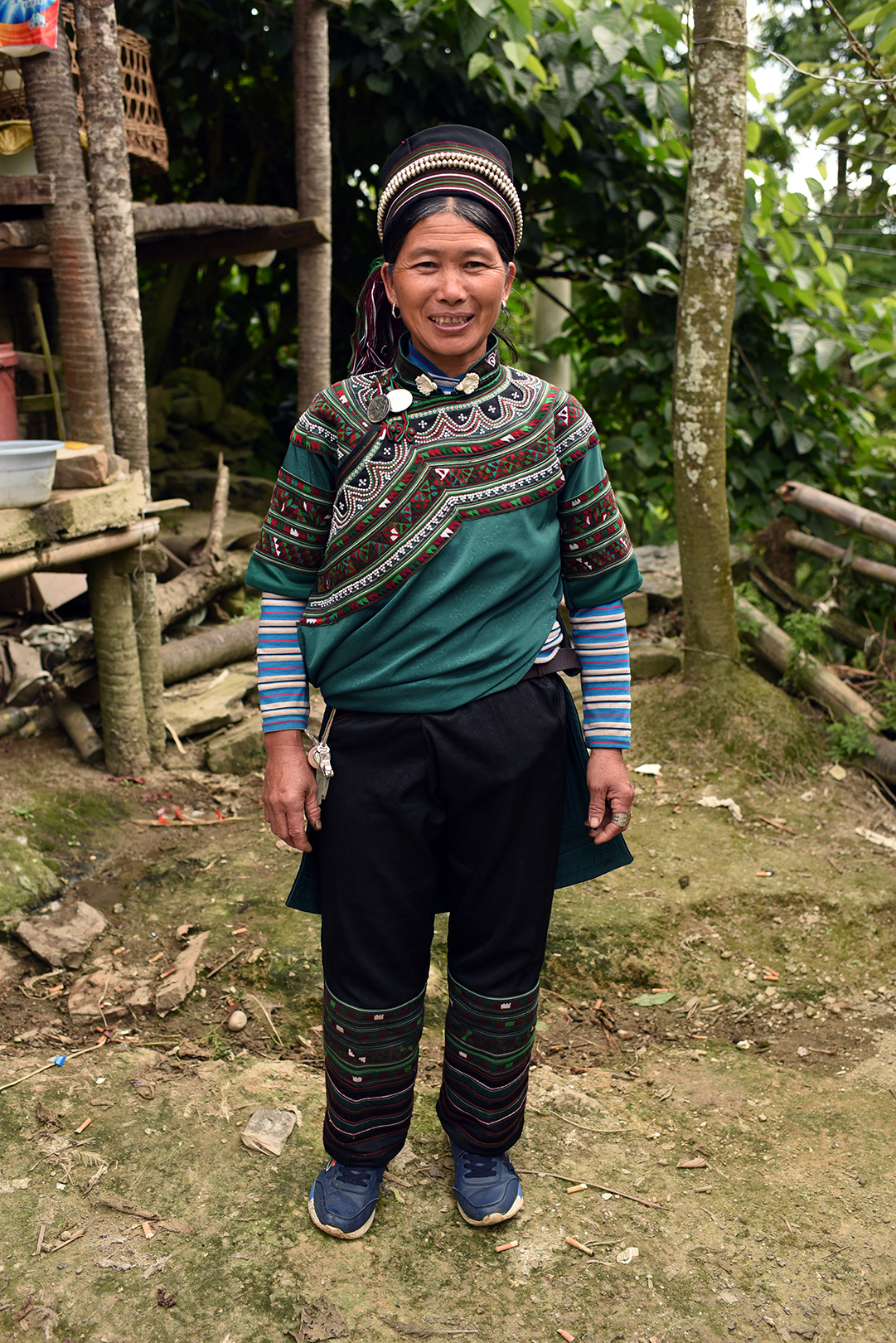 Hani woman and member of polyphonic singing intangible cultural heritage, Puchun village, Yunnan, 2017.