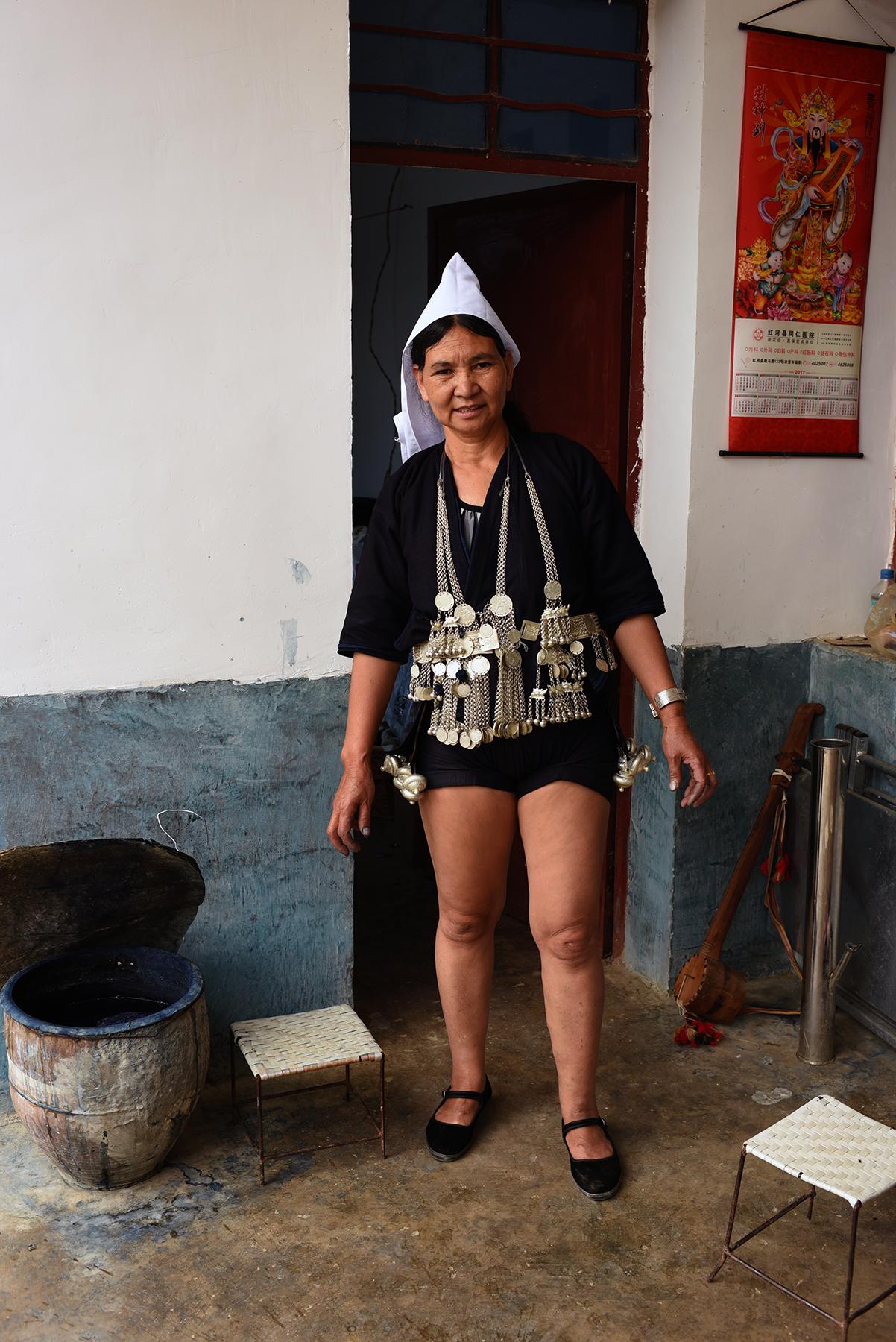 Li He Niu, at her home in  Dayangjie town, Yunnan 2017.