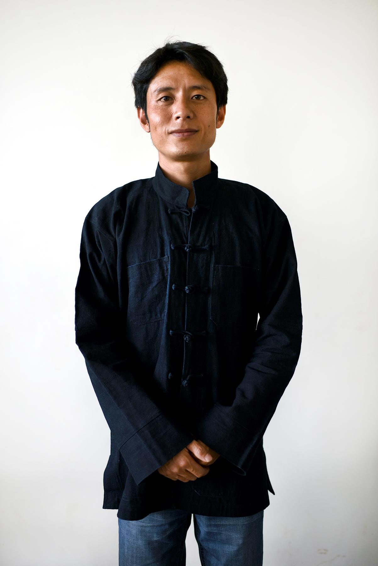 Zhang Zheng Guo, Lezuo musician. Dieshi village, Yunnan, 2017.