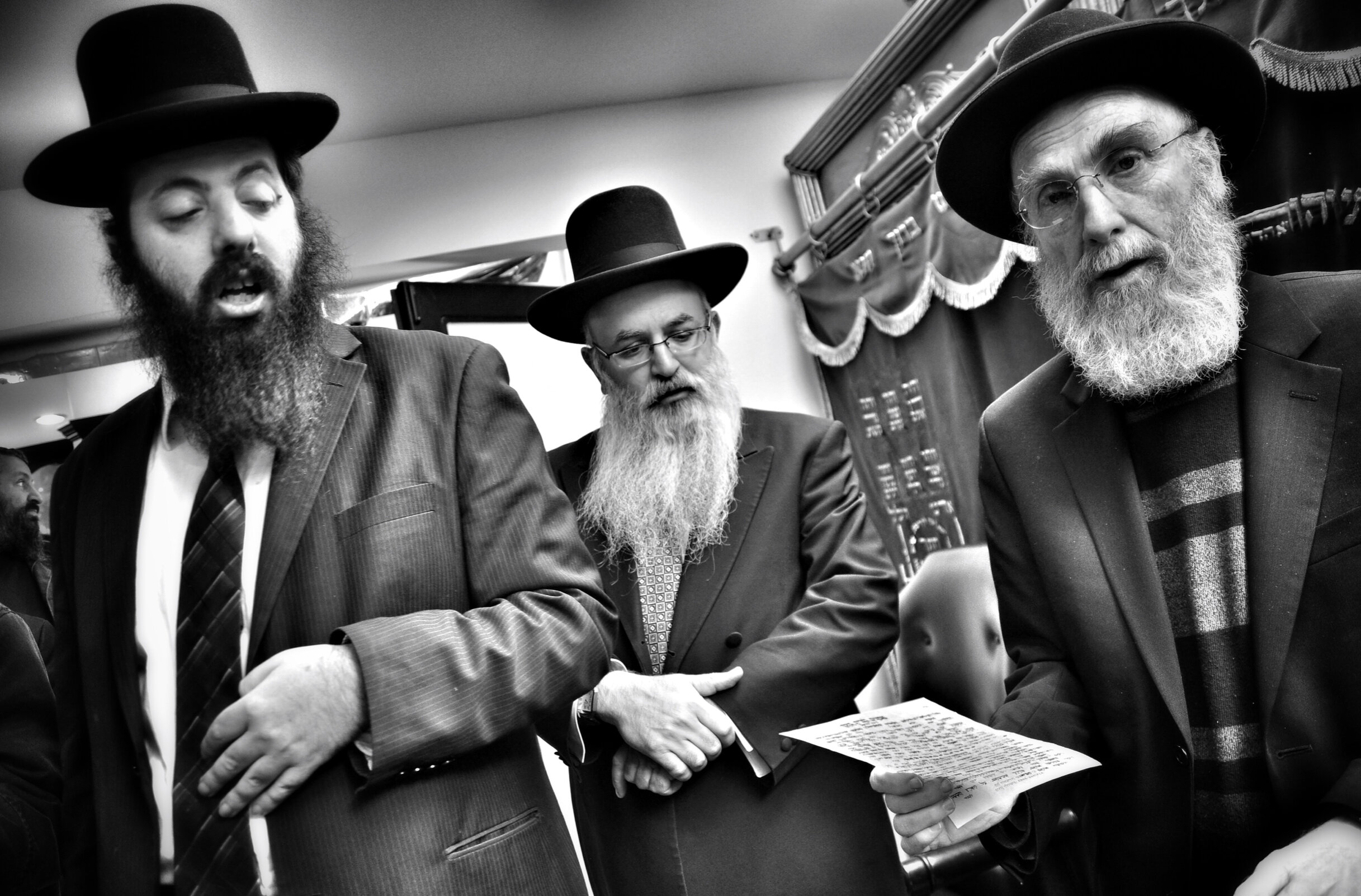 Rabbis attending Bris, Los Angeles 2014