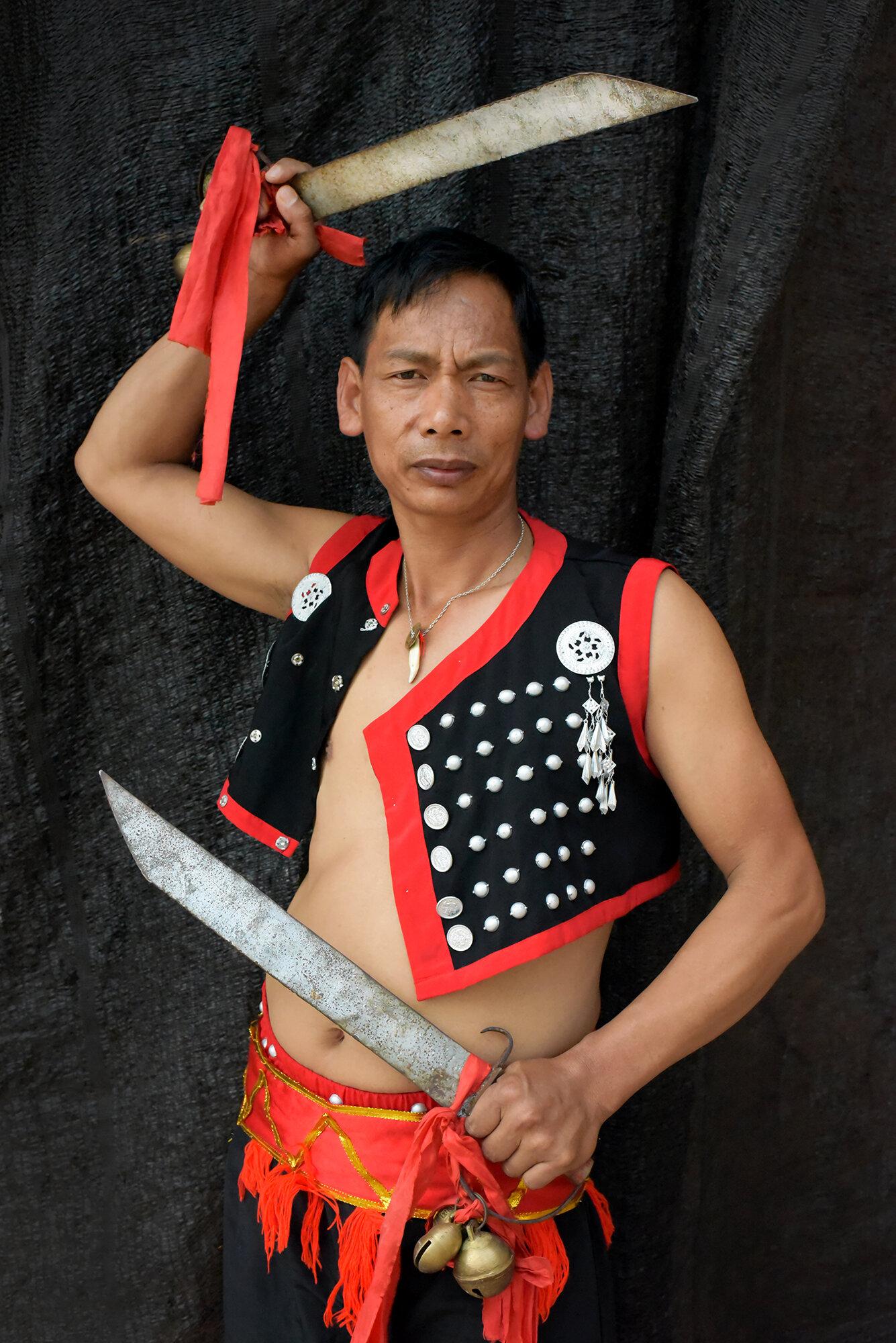 Intangible Cultural Heritage dancer, Yunnan, China, 2018