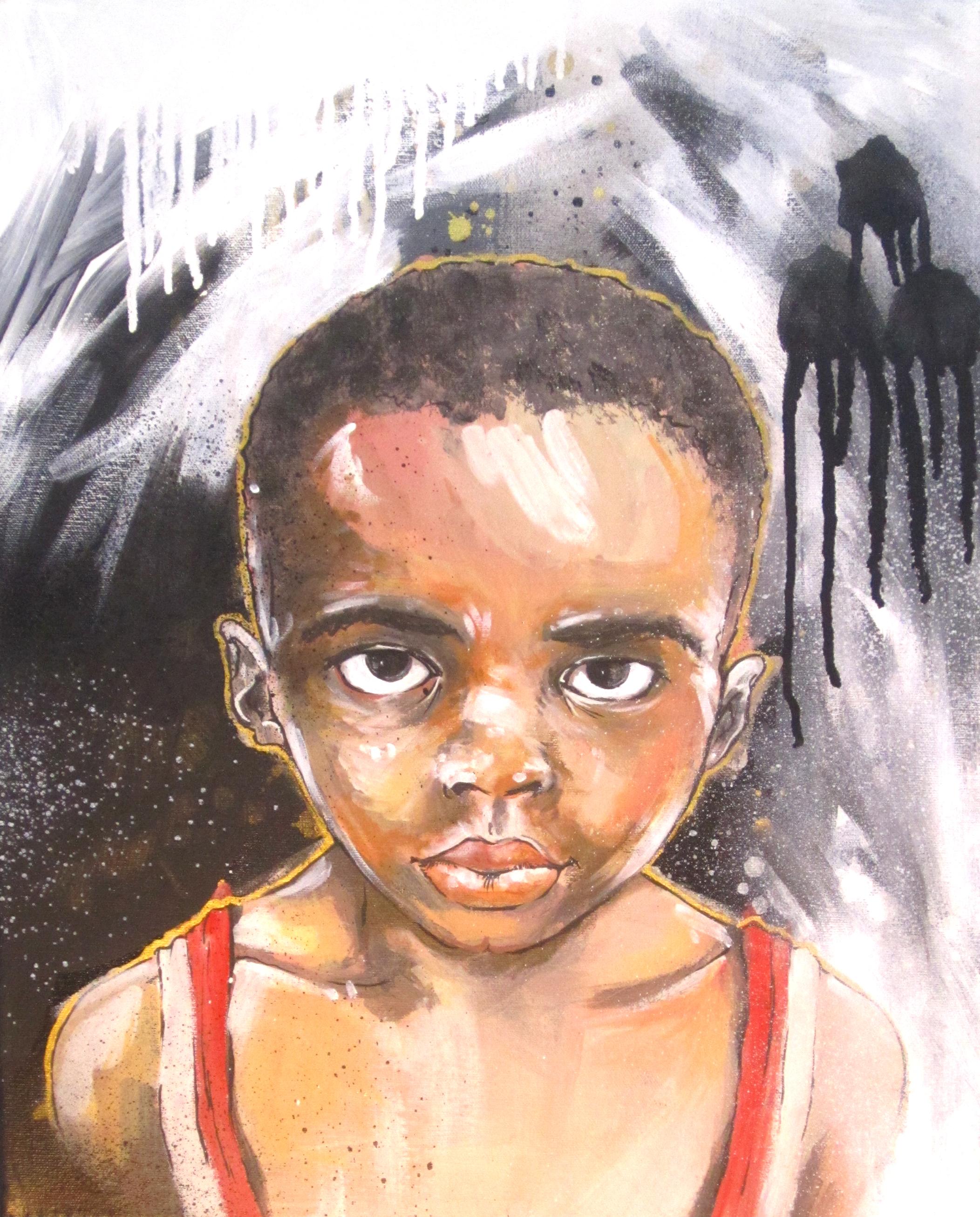 """Enoch  2008 12 x 18"""" acrylic on canvas"""
