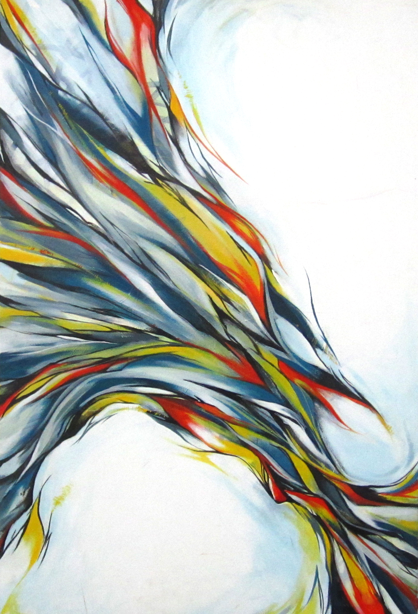 """Pulled  2011 24"""" x 36"""" acrylic on canvas"""