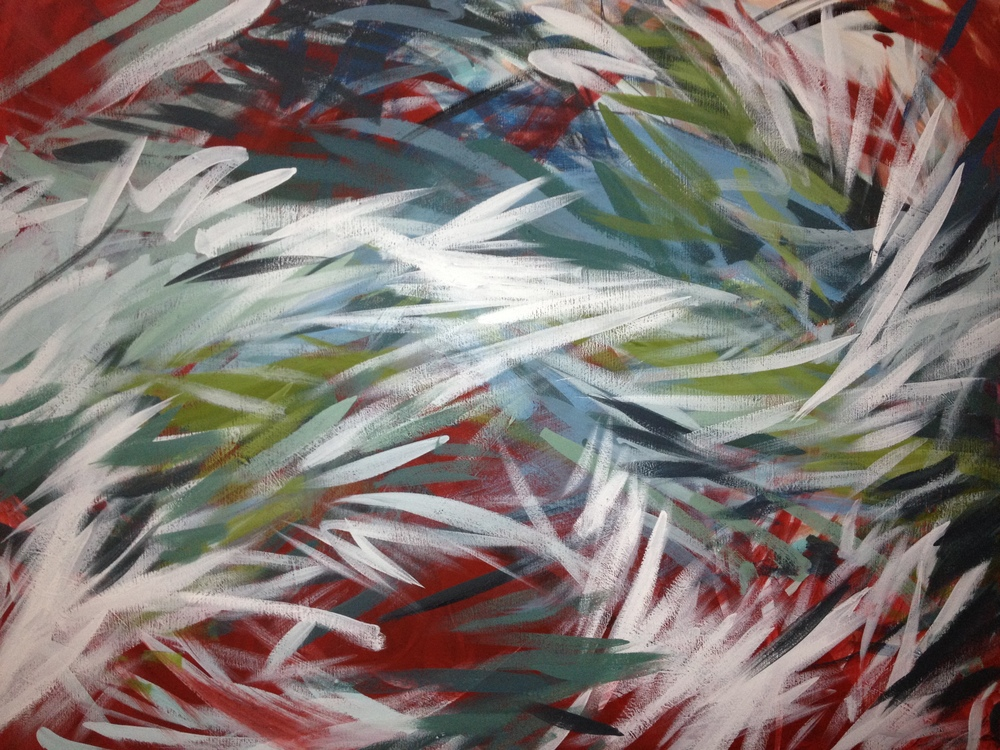 """Untitled      2012   36"""" x 48""""   acrylic on canvas    Commissioned"""