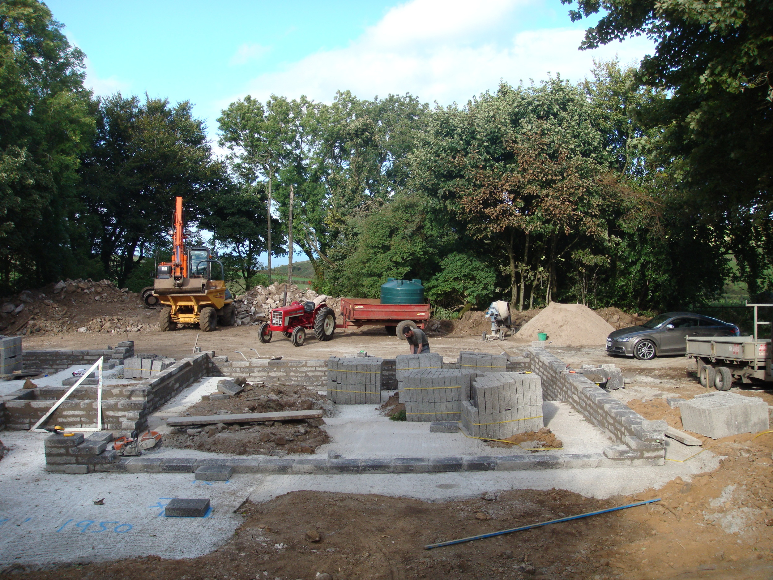 foundations poured and sub floor blockwork underway
