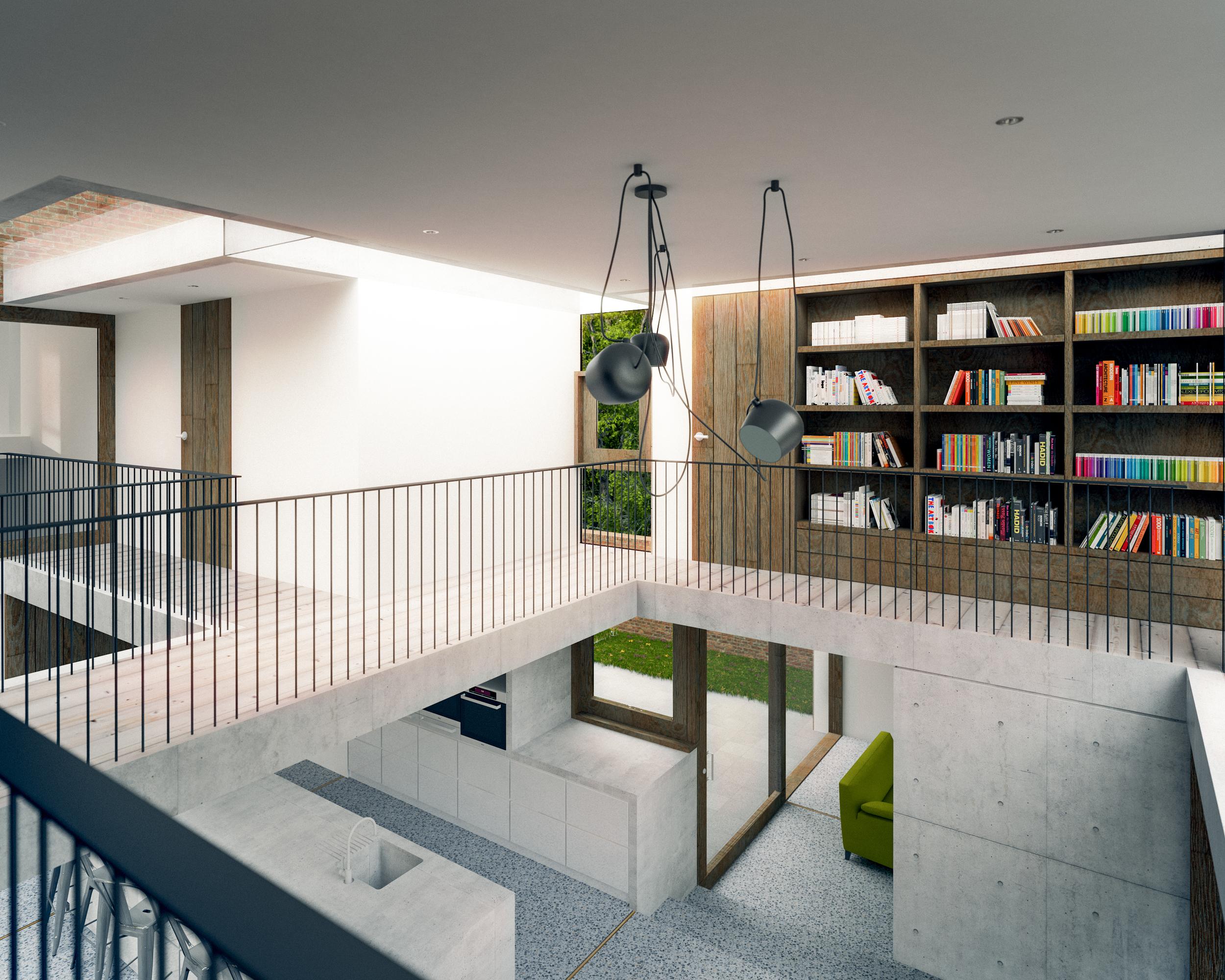 internal view of first floor