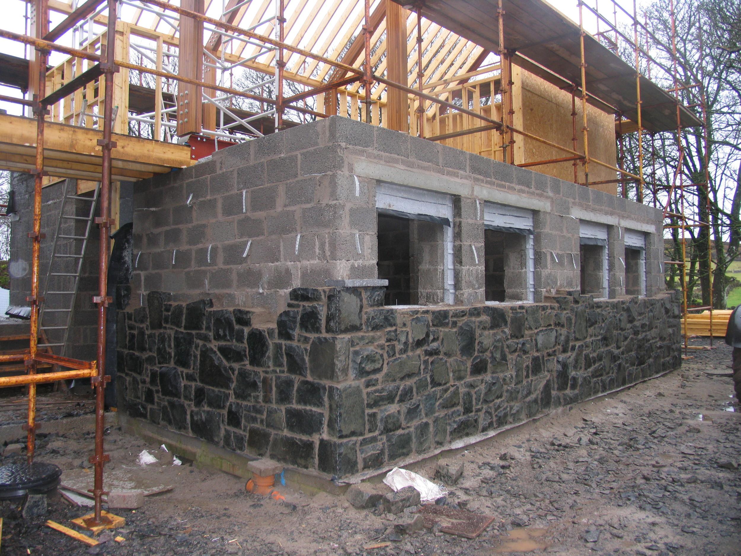 corkey stonework underway