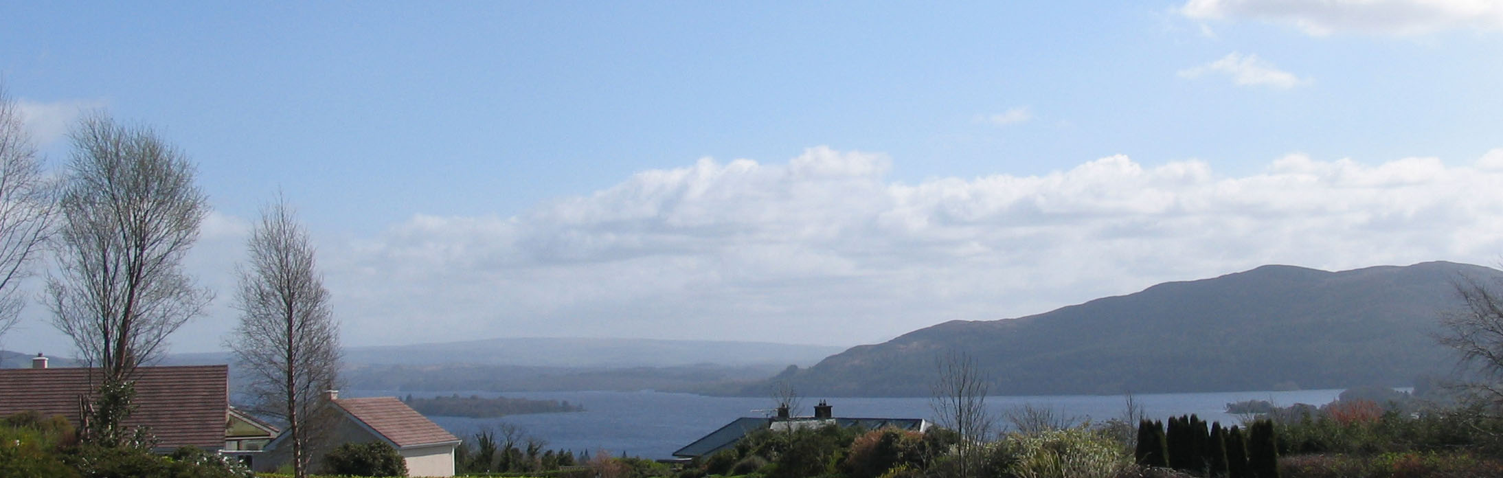 project 1 - view of Lough Gill from site