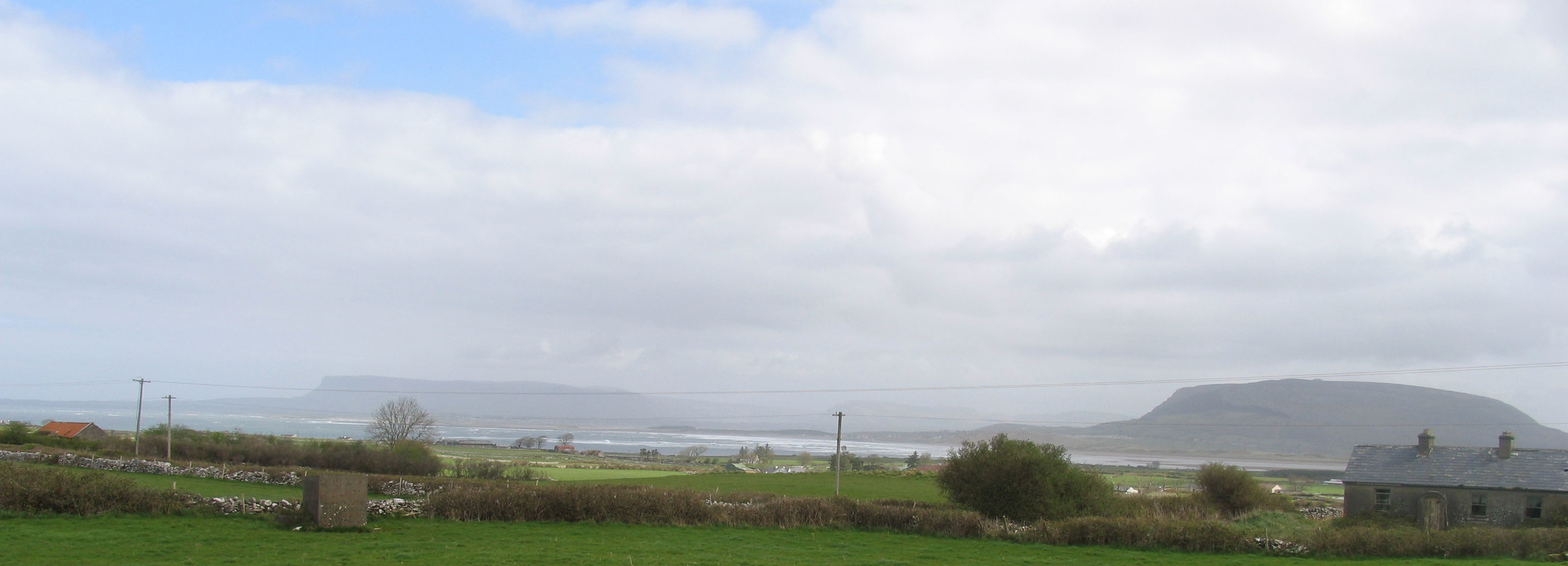 project 2 - view of Benbulbin & Knocknarea from site