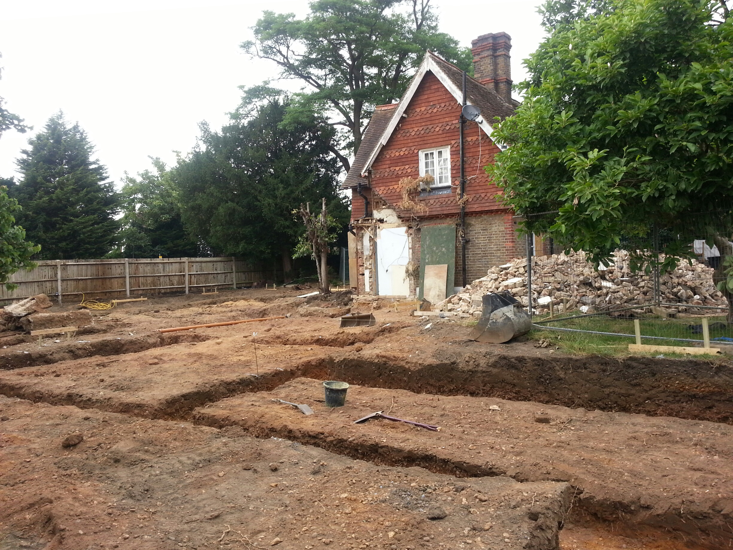 view of foundations and existing cottage