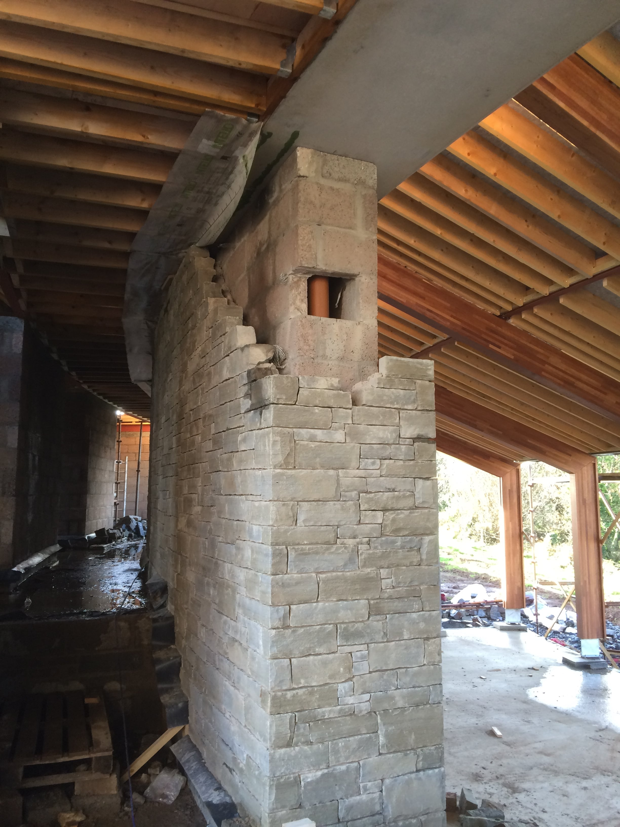 Internal stone work nearing completion