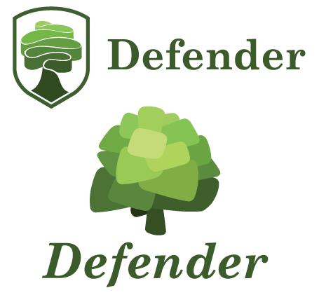 refined dynamic oak logo options