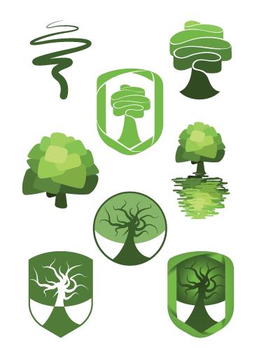 refined oak logo options