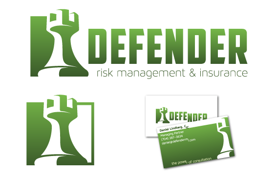 Rook refined logo and business card