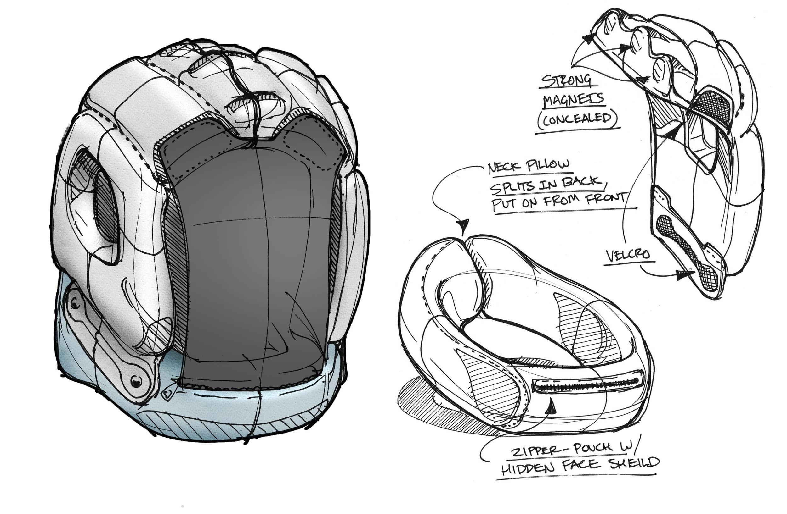 industrial design concept sketch neck pillow