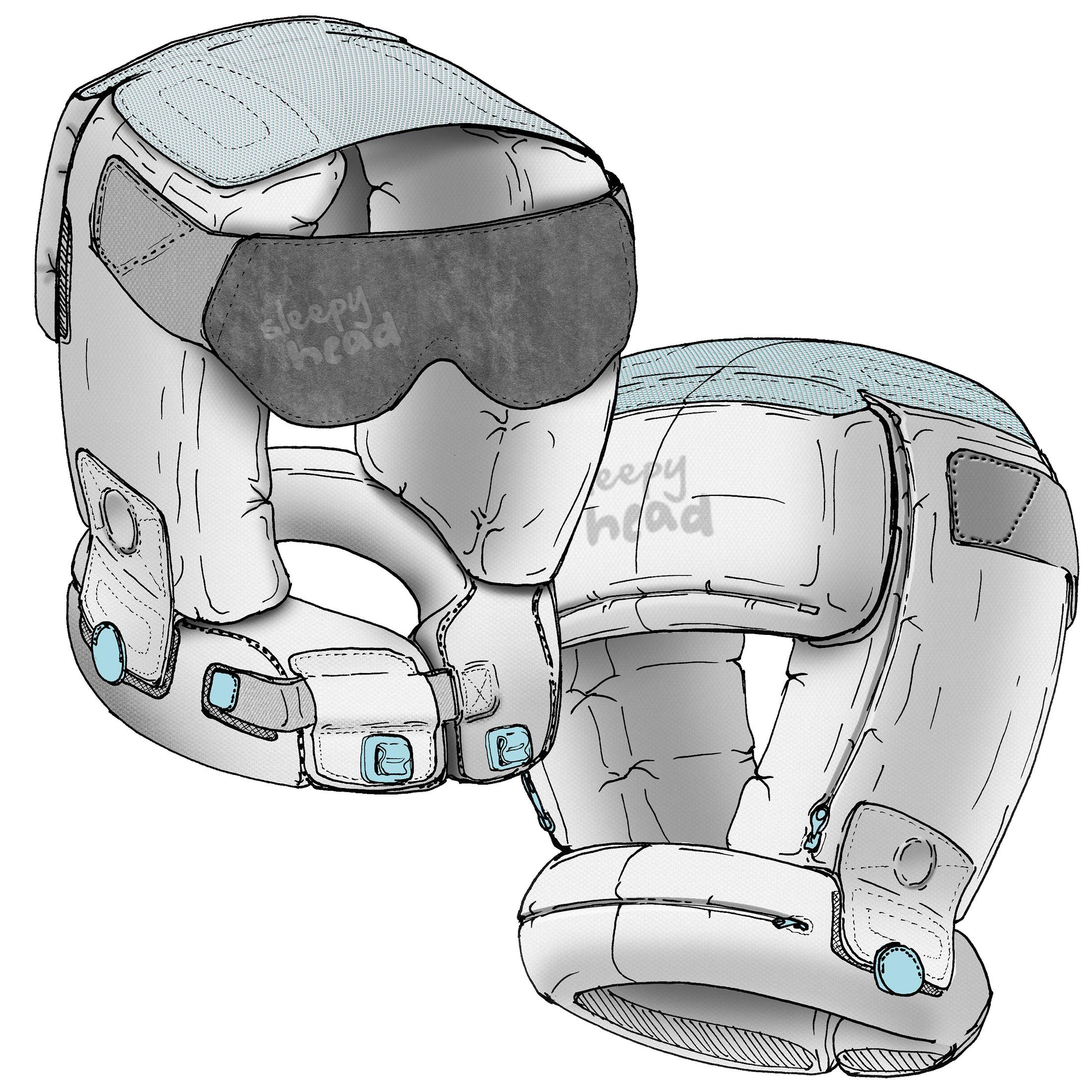 industrial design concept illustration for soft goods