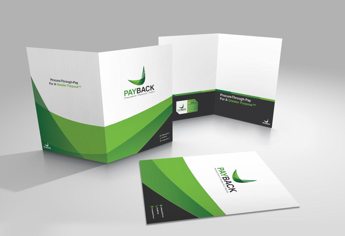 sales folder design