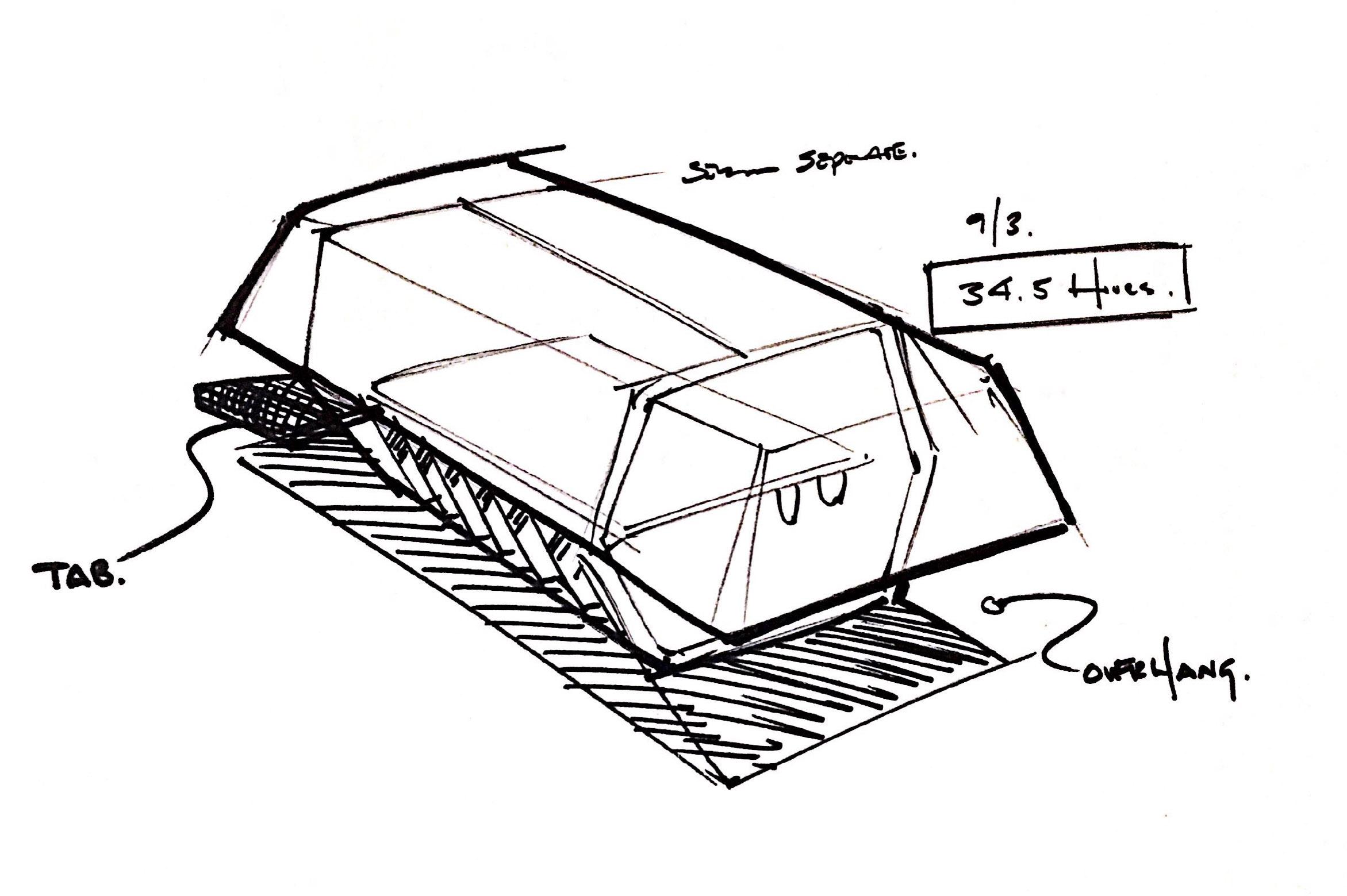 Industrial Design Refinement Sketch