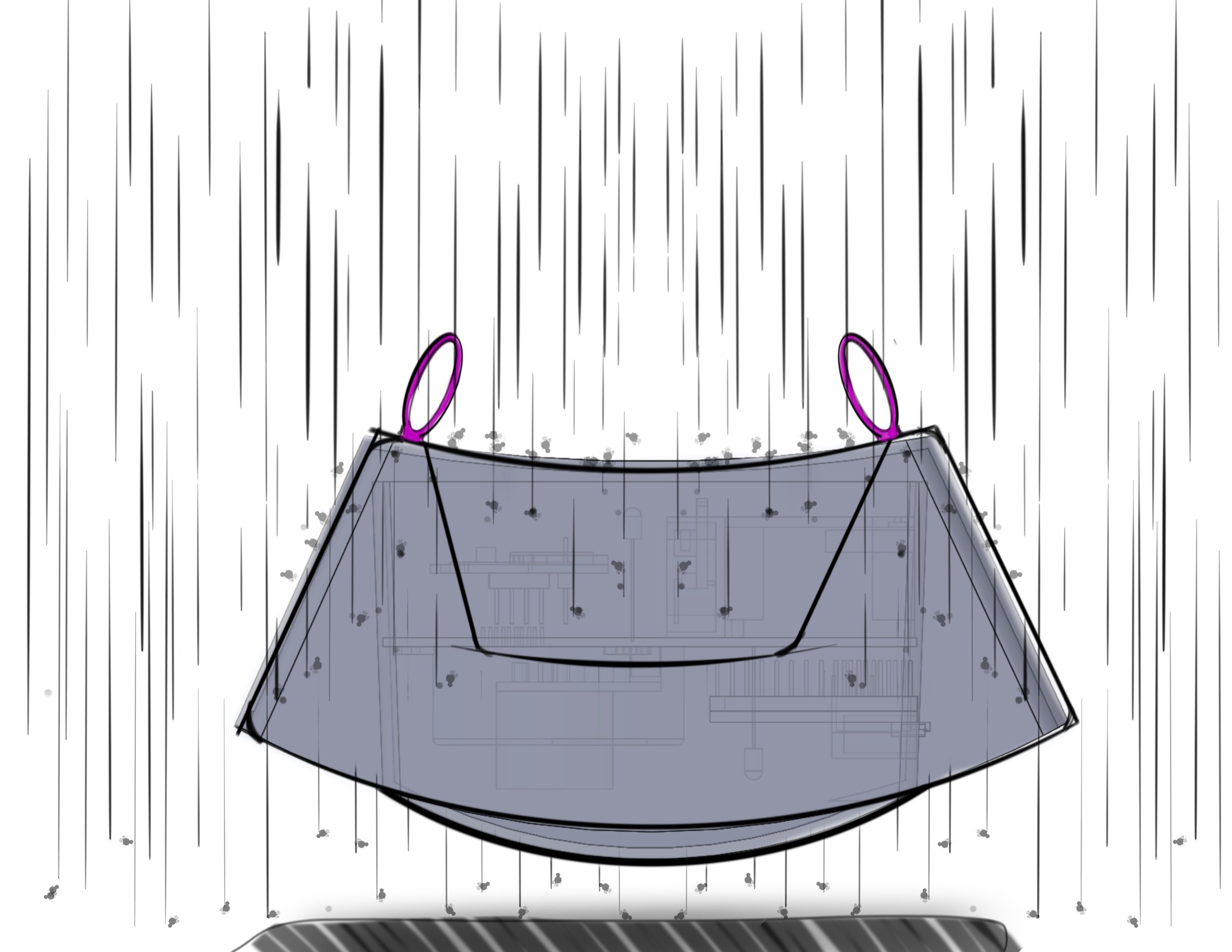Backpack outdoor position - keep out rain