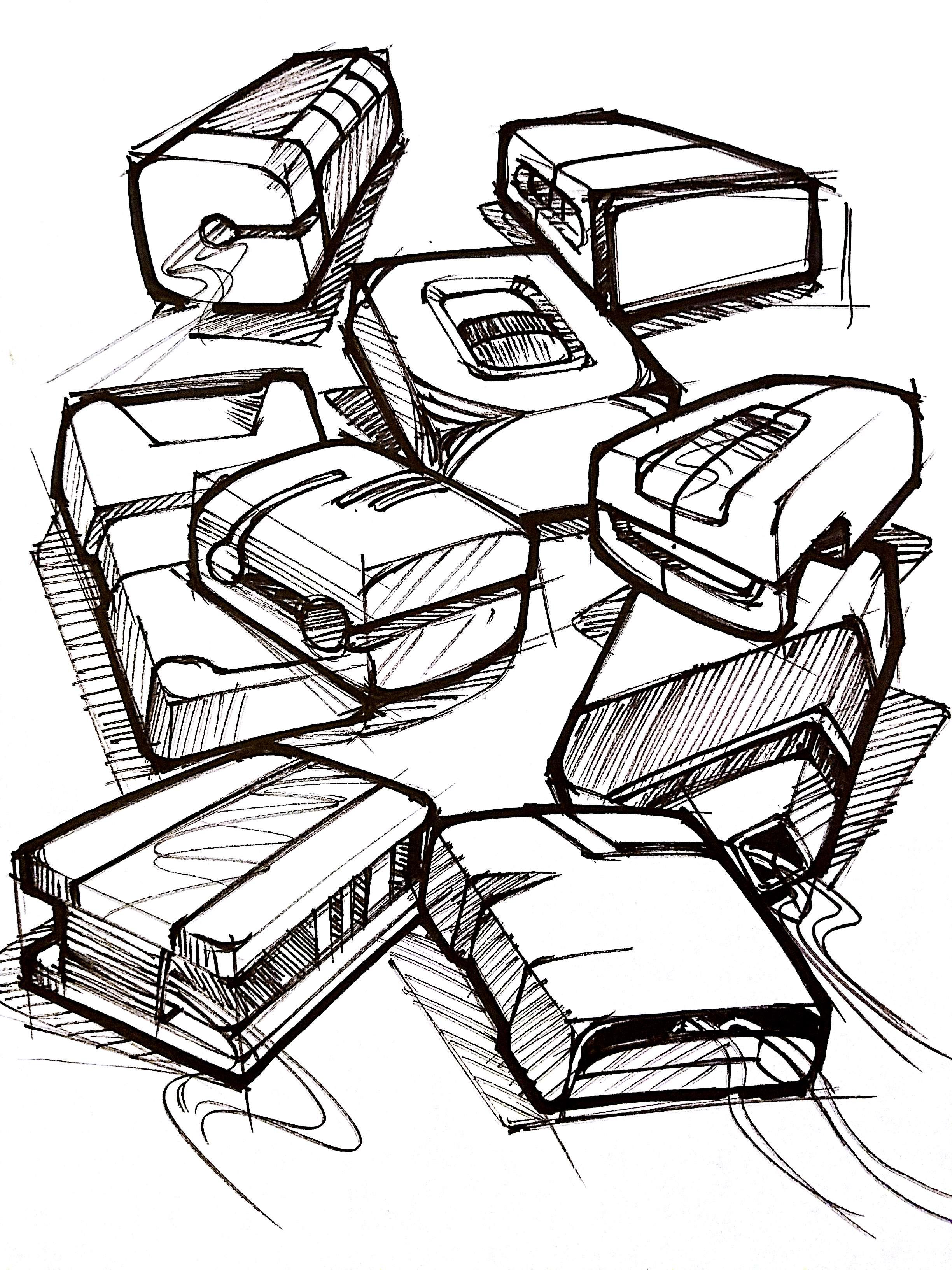 Industrial Design Sketch Exploration