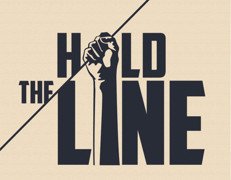 Hold the Line Graphic