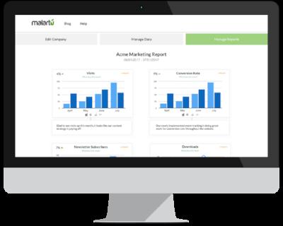 Malartu dashboard marketing report