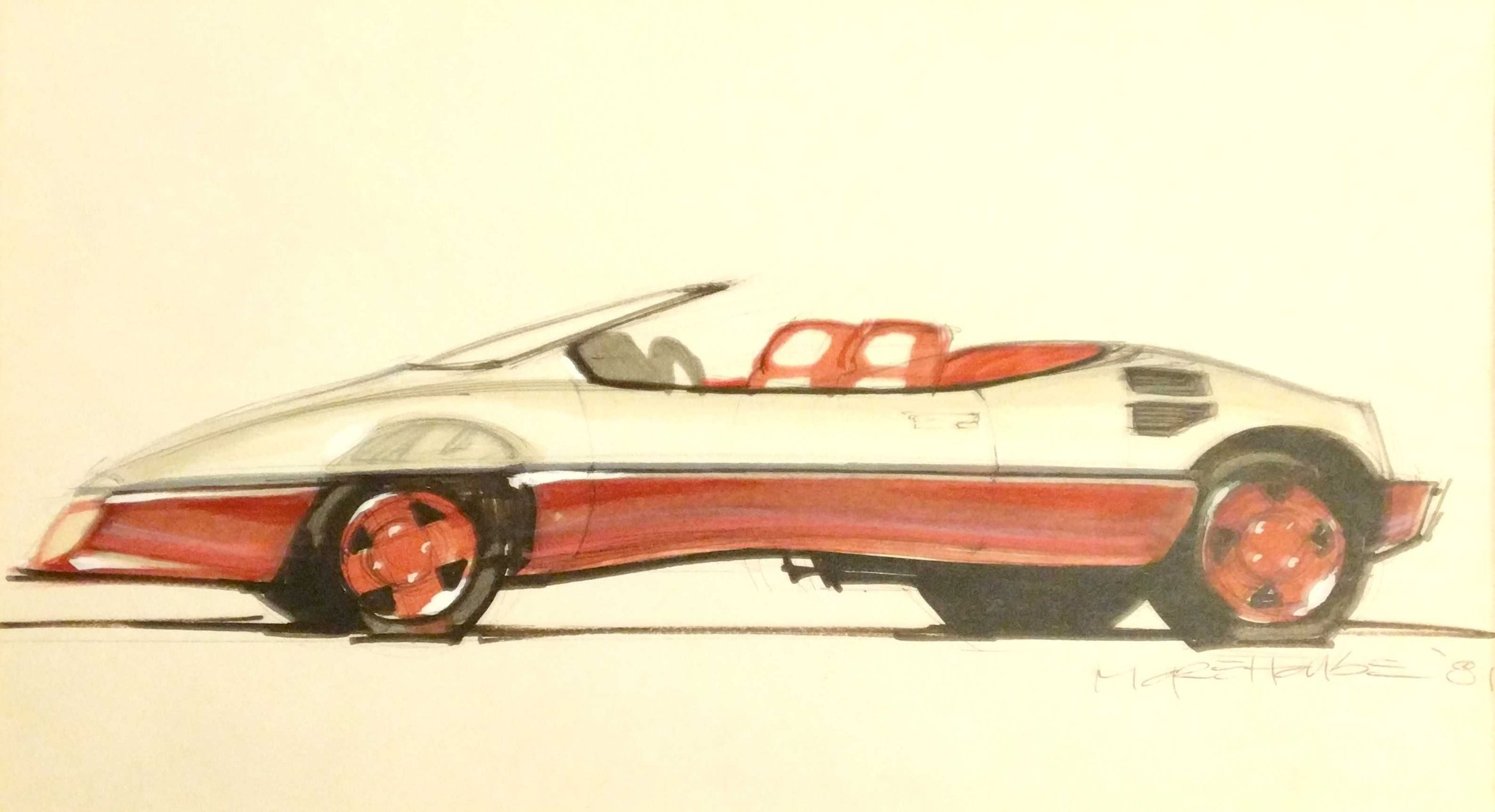 Matchbox car marker rendering by Mr. Morehouse, 1981