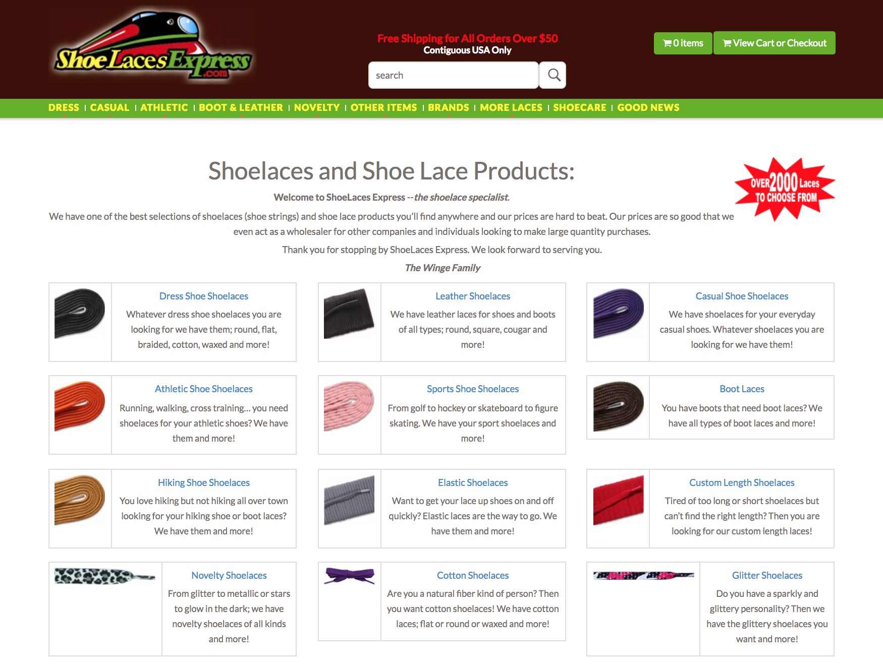 Shoelaces Homepage