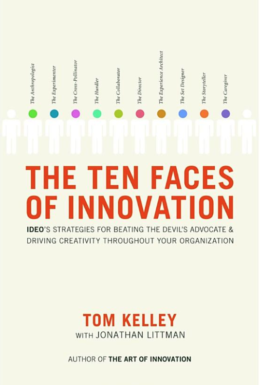 The Ten Faces of Innovation by Tom Kelley Cover Art