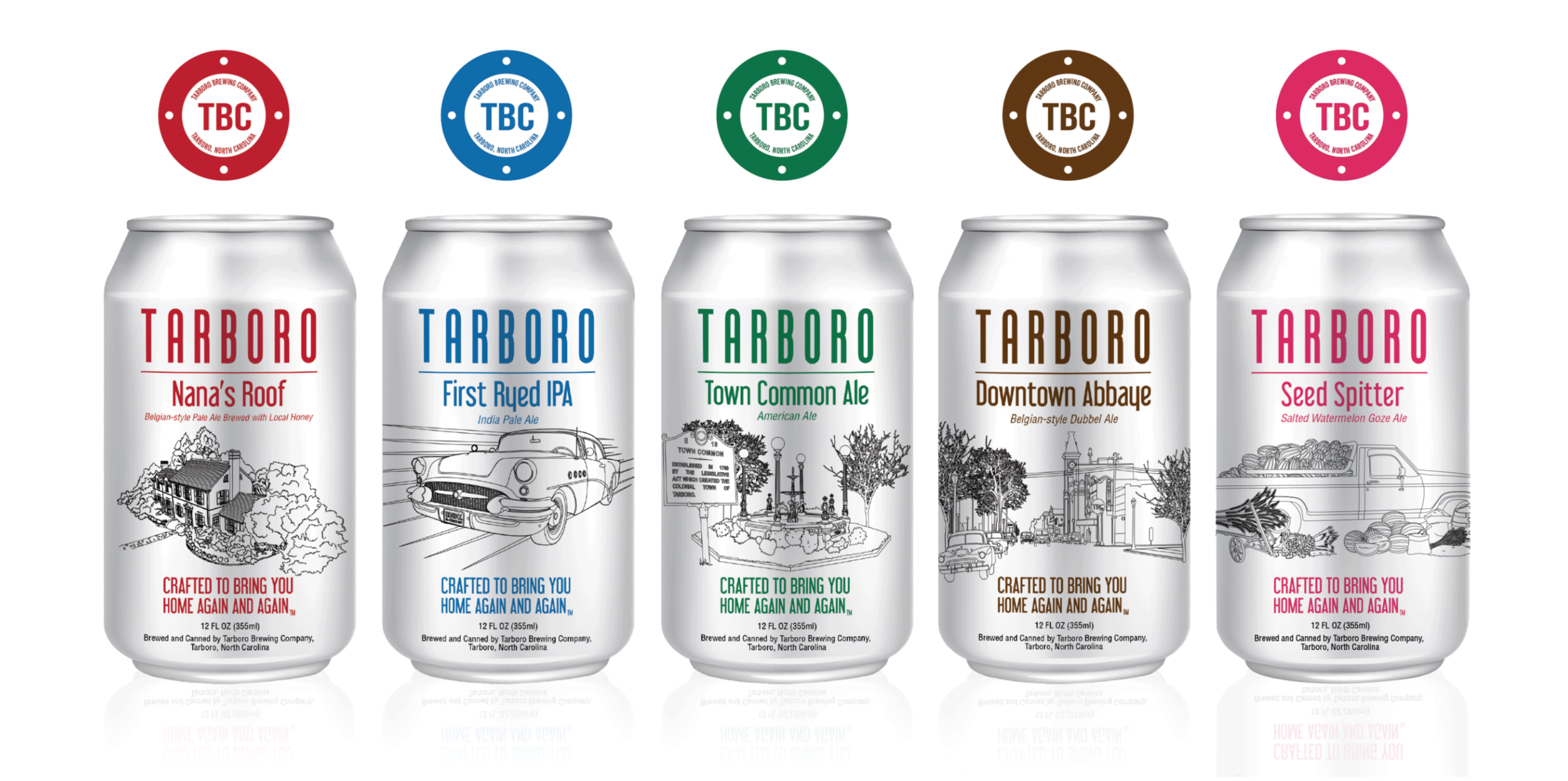 TBC Tarboro Brewing Company Can Designs