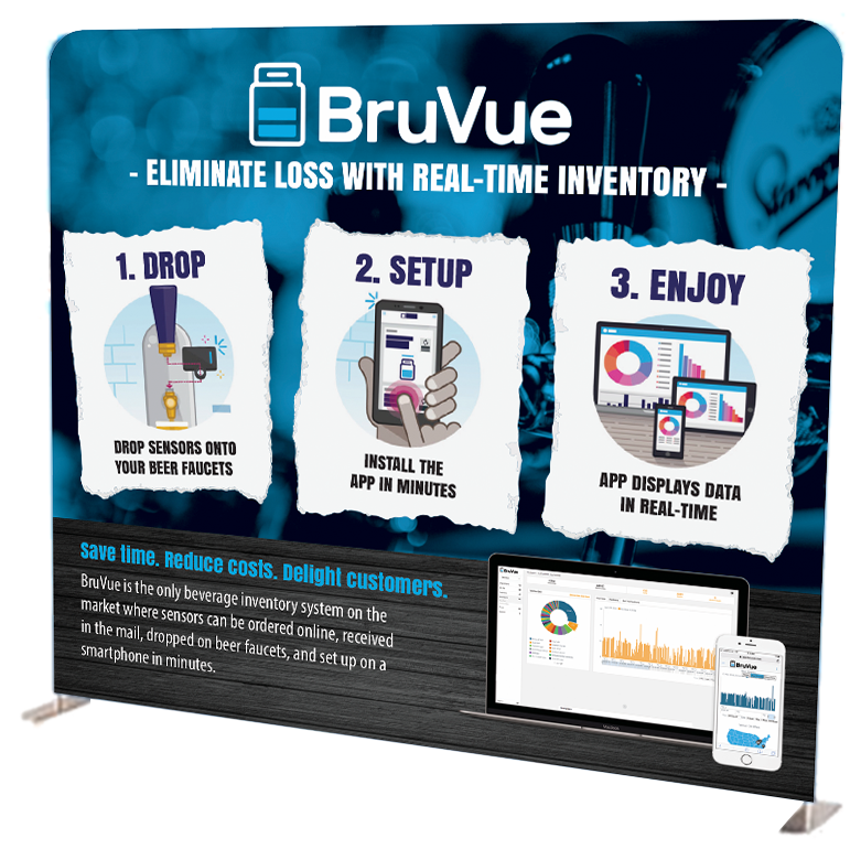 Industrial Design Marketing BruVue Large Stand Sign