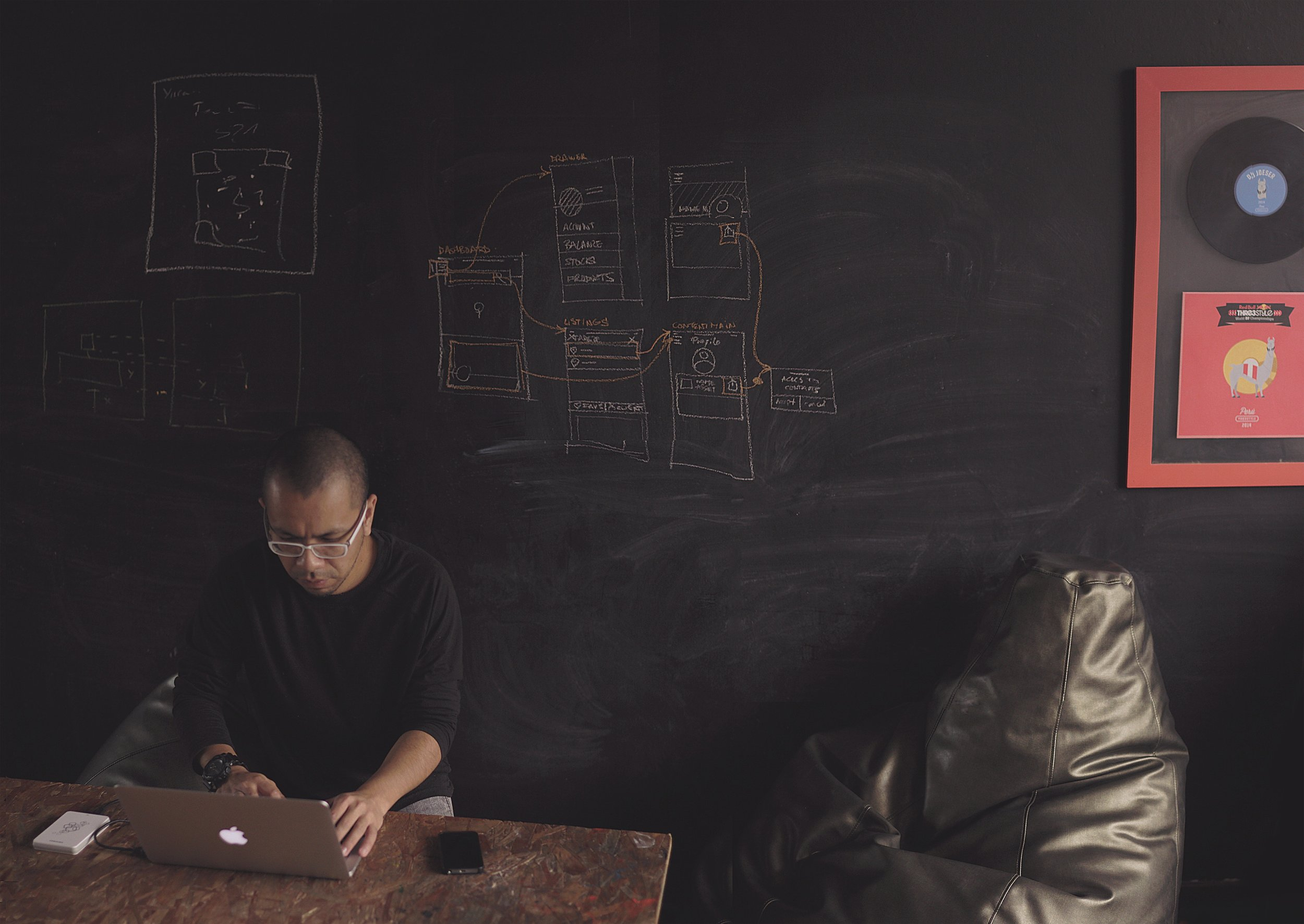Design Thinking Designer Working on Project