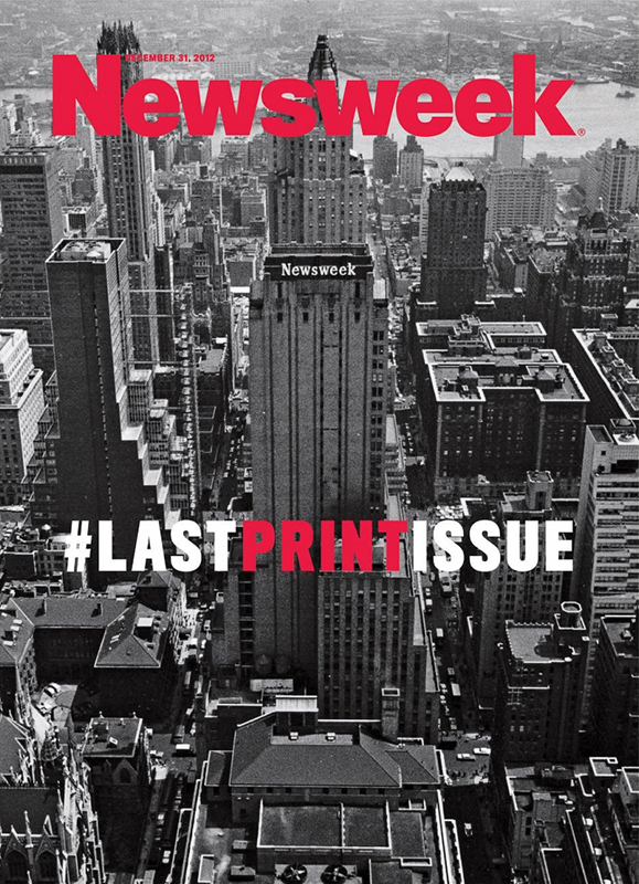 The final printed issue of Newsweek magazine. Will there be more final issues of other newspapers and magazines in the future?