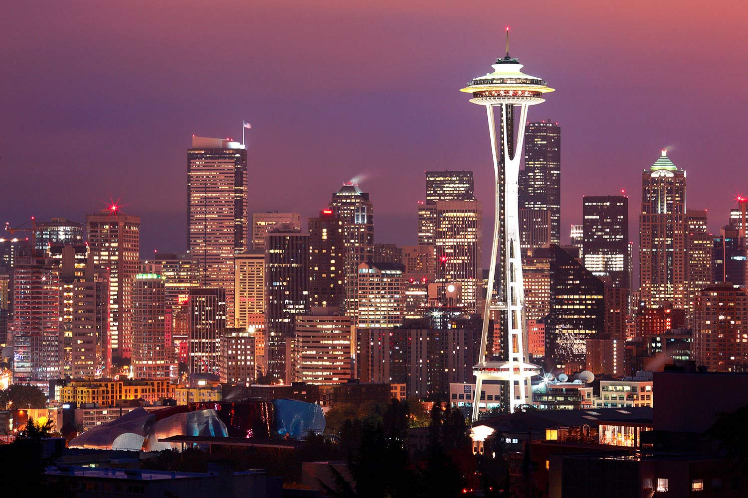 The Seattle, Washington skyline as seen from Kerry Park.  → Buy This Print