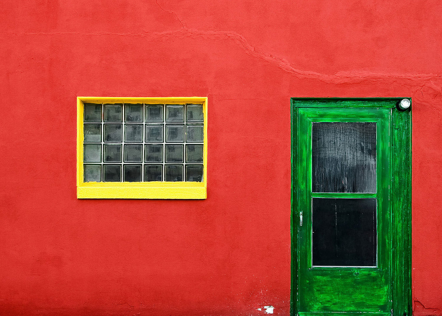 A richly colored wall west off of main street in Mayville, Wisconsin.  → Buy a Print