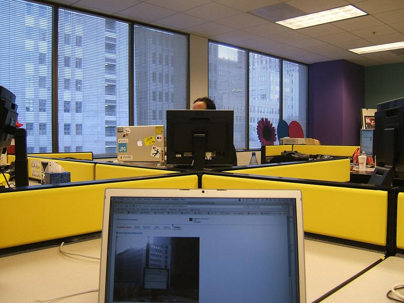 No wonder the May 2013 redesign at Flickr was a failure. Look at Flickr's drab, boring, and uninspiring offices. Photo by Roozbeh Abbasi Brojeni .