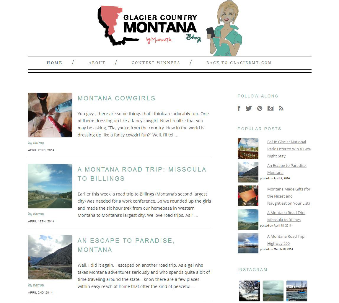 The  Glacier Country Montana  blog is an excellent source for information about what to see and do in Glacier Country.