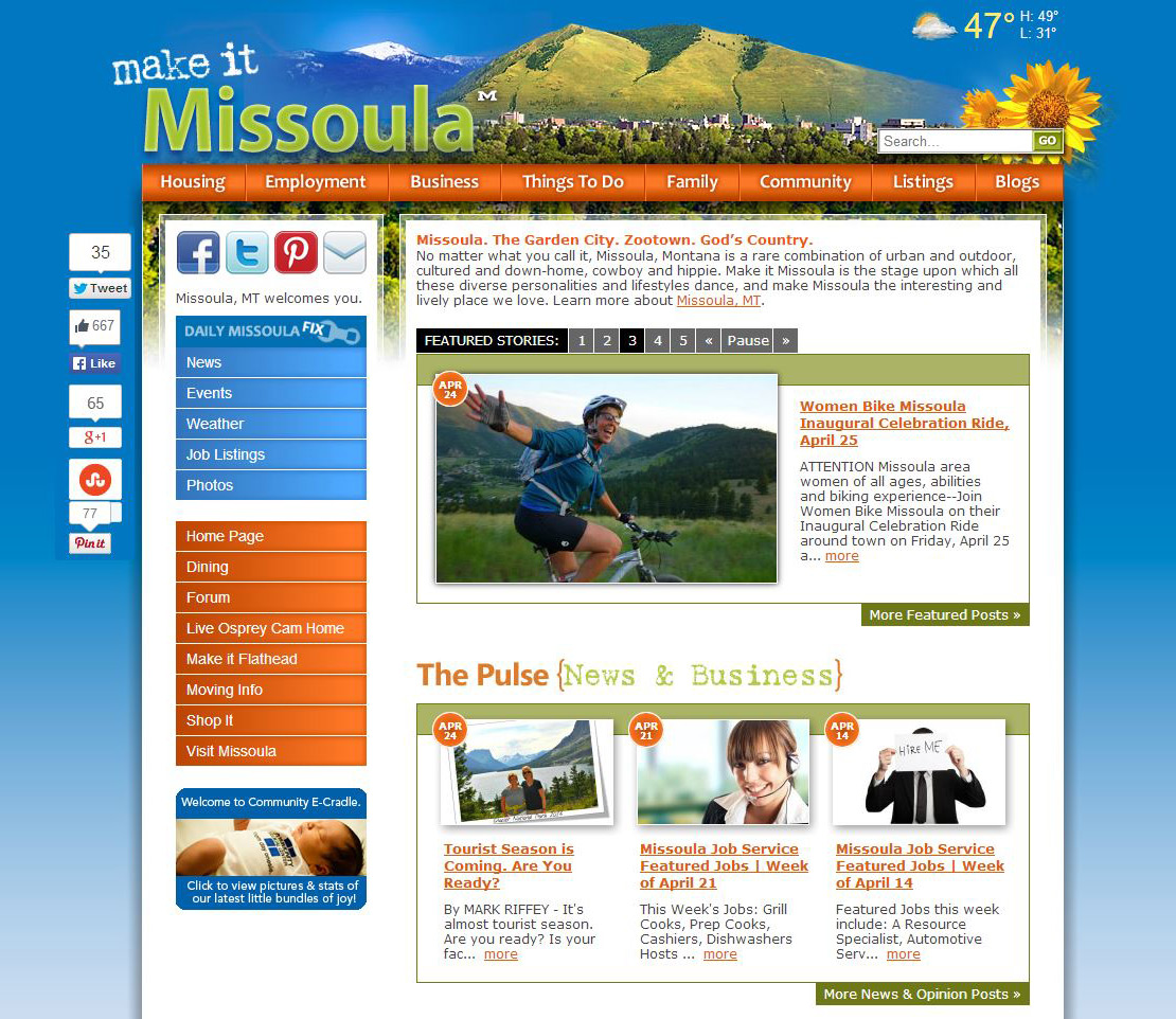 Make it Missoula  is a fine Missoula blog about Missoula for those who live, work, and play in Missoula.