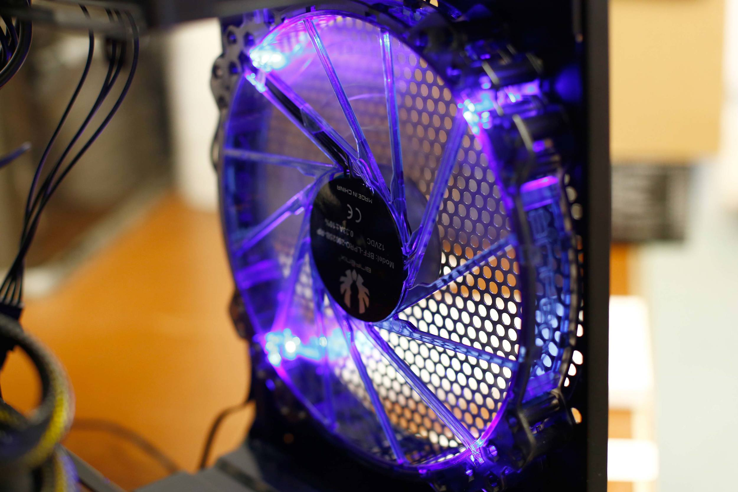 One of the large BitFenix Spectre Pro fans I installed on my computer. And yes, I turned off the blue LED lights.