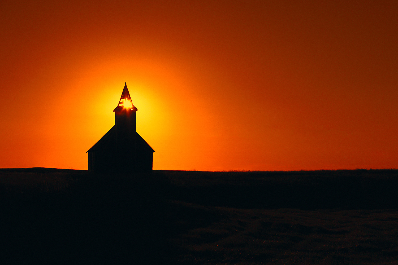 Dooley Church Silhouette
