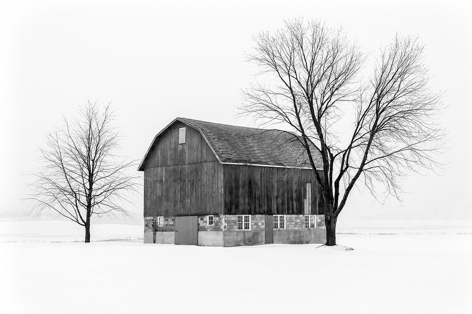 Snowy Little Barn