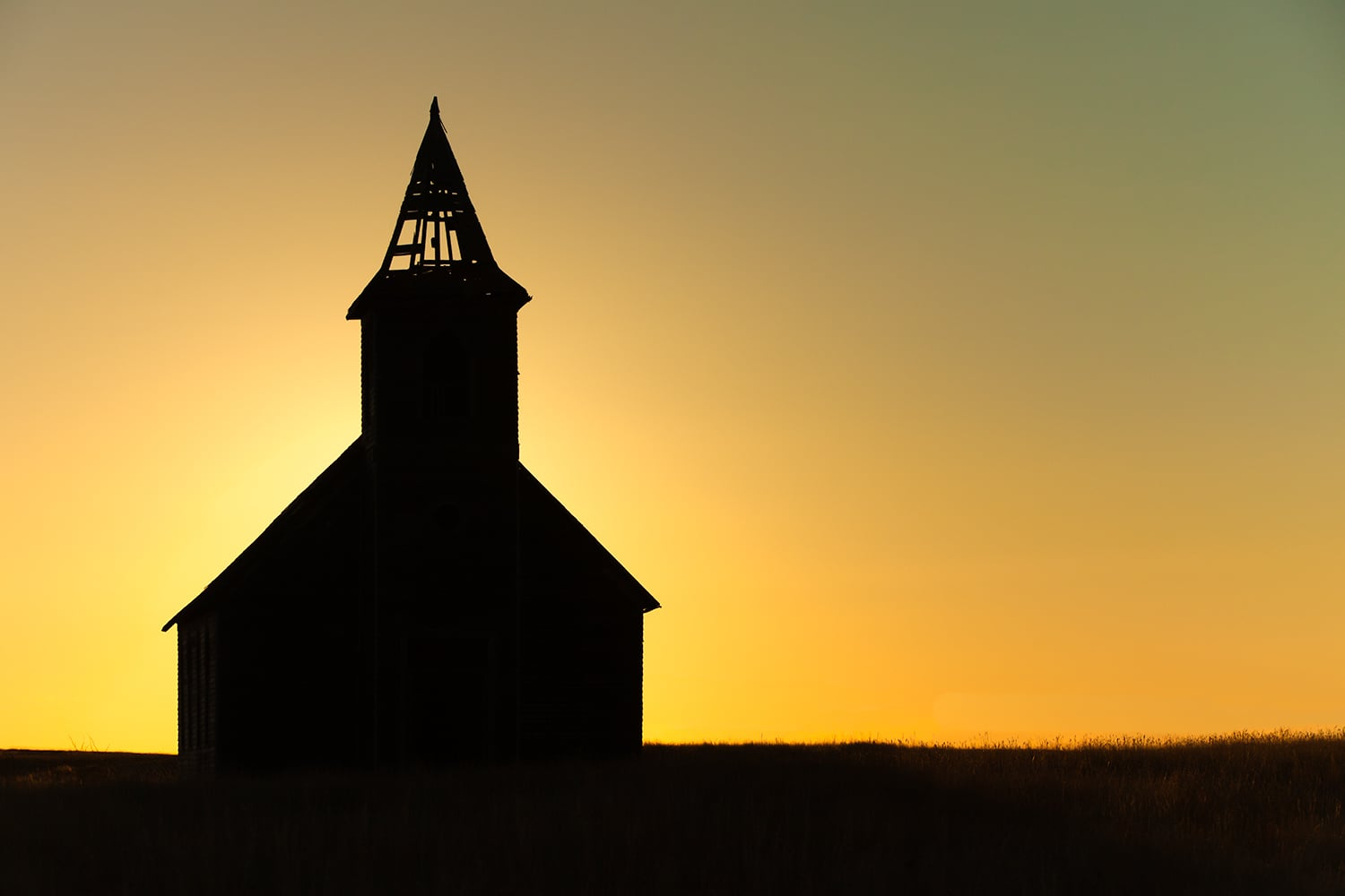 Abandoned Church Silhouette