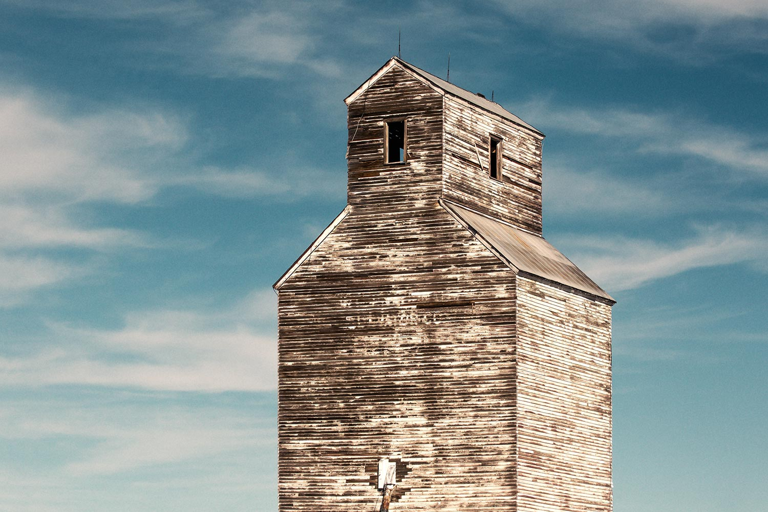 An old grain elevator in Rapelje, Montana.   → Buy a Print