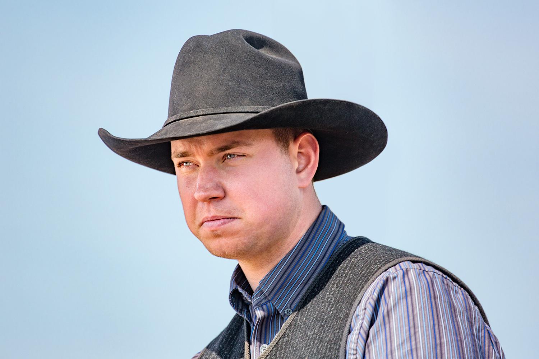 Stern Looking Cowboy